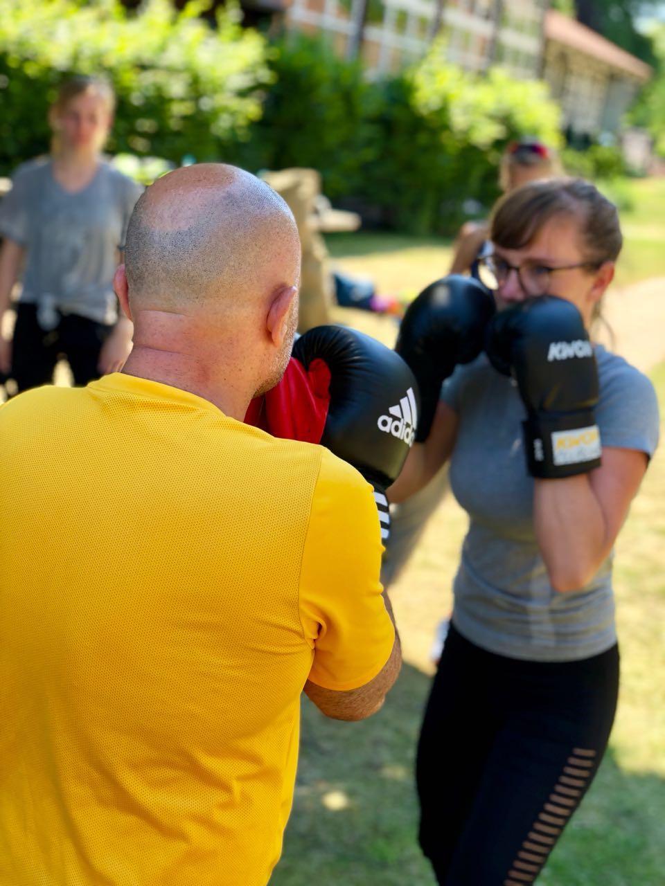 Outdoor Fitnesstrainerin Julia Oestreich