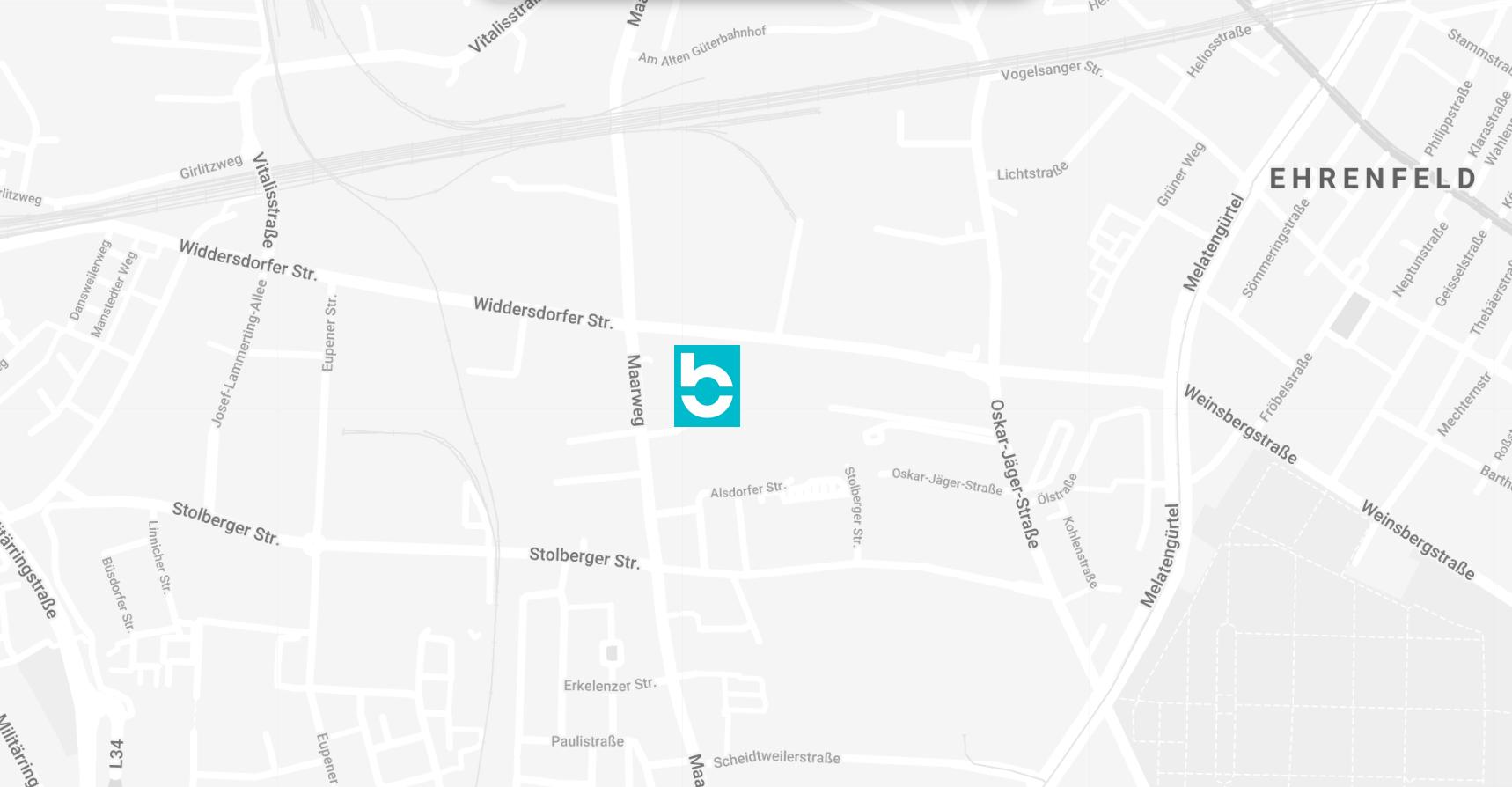 Wegbeschreibung zur Bootbox - Widdersdorfer Straße 217