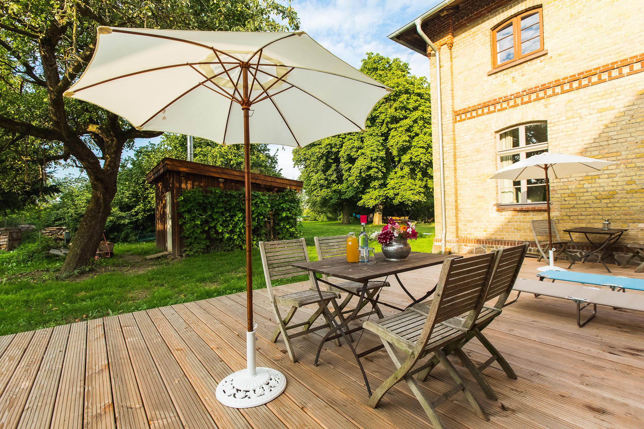 Entspannung genießen auf dem schönen Gelände des Gutshaus Lexow